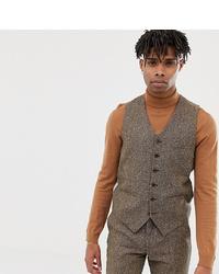 Chaleco de vestir de lana marrón de Heart & Dagger