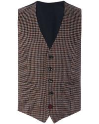 Chaleco de vestir de lana marrón de Lardini