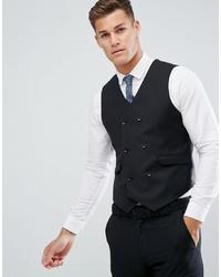Chaleco de vestir de lana negro de ASOS DESIGN