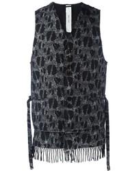 Chaleco de vestir de lana negro de Damir Doma