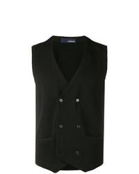 Chaleco de vestir de lana negro de Lardini