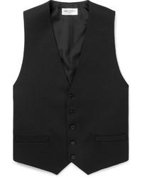 Chaleco de vestir de lana negro de Saint Laurent