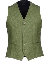 Chaleco de vestir de lana verde oliva