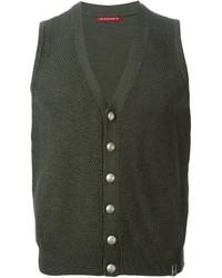 Chaleco de vestir de lana verde oliva de Jacob Cohen