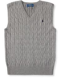 Chaleco de vestir de punto gris