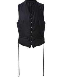 Chaleco de vestir de rayas verticales negro
