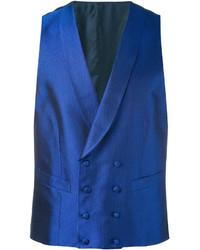 Chaleco de vestir de seda azul marino de Canali