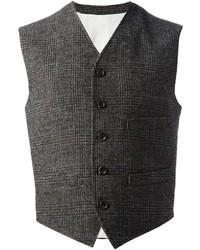 Chaleco de vestir de tartán gris de Dolce & Gabbana