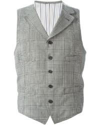Chaleco de vestir de tartán gris de Lardini