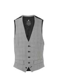 Chaleco de vestir de tartán gris de Loveless