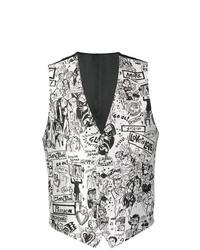 Chaleco de vestir en blanco y negro de Dolce & Gabbana