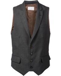 Chaleco de vestir en gris oscuro de Brunello Cucinelli