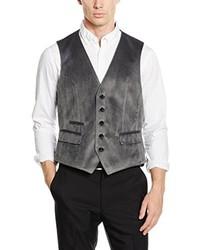 Chaleco de vestir en gris oscuro de Bugatti