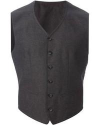 Chaleco de vestir en gris oscuro de Dolce & Gabbana