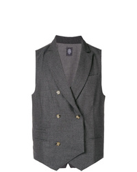 Chaleco de vestir en gris oscuro de Eleventy
