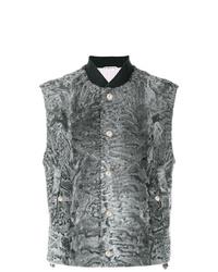 Chaleco de vestir en gris oscuro de Thom Browne