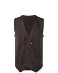 Chaleco de vestir en marrón oscuro de Lardini