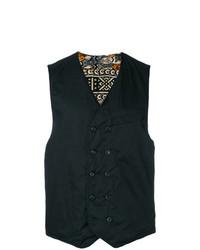 Chaleco de vestir estampado negro de Engineered Garments