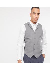 Chaleco de vestir gris de ASOS DESIGN