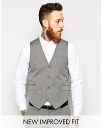 Chaleco de vestir gris de Asos