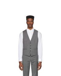 Chaleco de vestir gris de BOSS