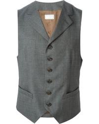 Chaleco de vestir gris de Brunello Cucinelli