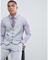 Chaleco de vestir gris de Burton Menswear
