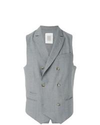 Chaleco de vestir gris de Eleventy
