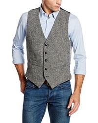 Chaleco de vestir gris de Harris Tweed