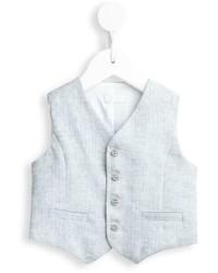 Chaleco de vestir gris de Il Gufo