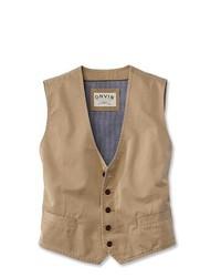 Chaleco de vestir marrón claro