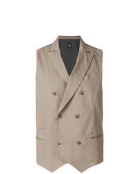 Chaleco de vestir marrón claro de Eleventy