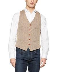 Chaleco de vestir marrón claro de Luis Trenker