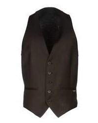 Chaleco de vestir marron oscuro original 2456763