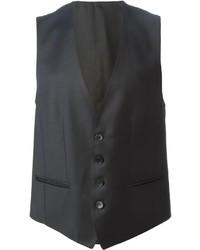 Chaleco de vestir negro de Hugo Boss