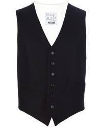 Chaleco de vestir negro de Moschino