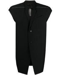 Chaleco de vestir negro de Rick Owens