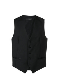 Chaleco de vestir negro de Tagliatore