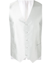 Chaleco de vestir tejido gris de Canali