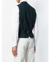 Chaleco de vestir vaquero azul marino de Tagliatore 4c26bb2e92e3