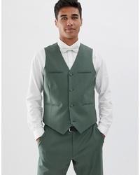 Chaleco de vestir verde oliva de ASOS DESIGN