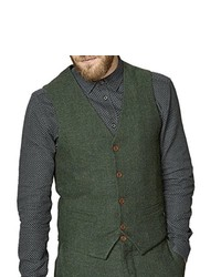 Chaleco de vestir verde oliva de Suit