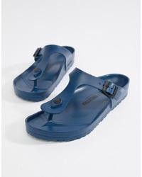 Chanclas azules de Birkenstock