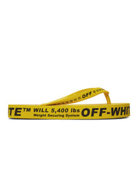 Chanclas de goma amarillas de Off-White