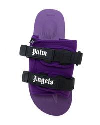 Chanclas en violeta de Palm Angels
