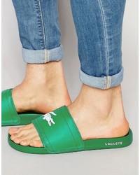 Chanclas verdes de Lacoste
