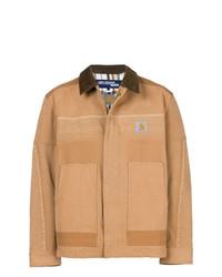 Chaqueta con cuello y botones marrón claro de Junya Watanabe MAN