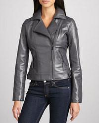 42080c30028a8 Cómo combinar una chaqueta de cuero en gris oscuro (30 looks de moda ...