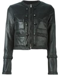 Chaqueta de Cuero Negra de Givenchy