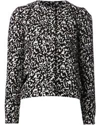 Chaqueta de lana rizada en negro y blanco de Proenza Schouler